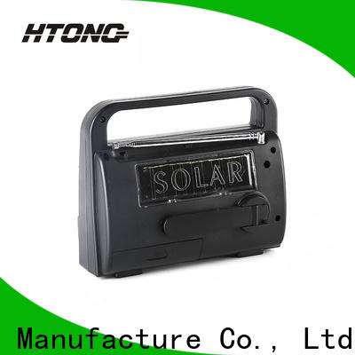 HTong hand solar powered emergency radio from China for outdoor