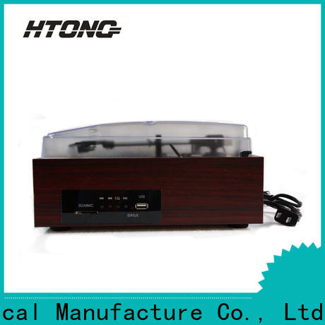 HTong sdcard antique wooden gramophone design for indoor