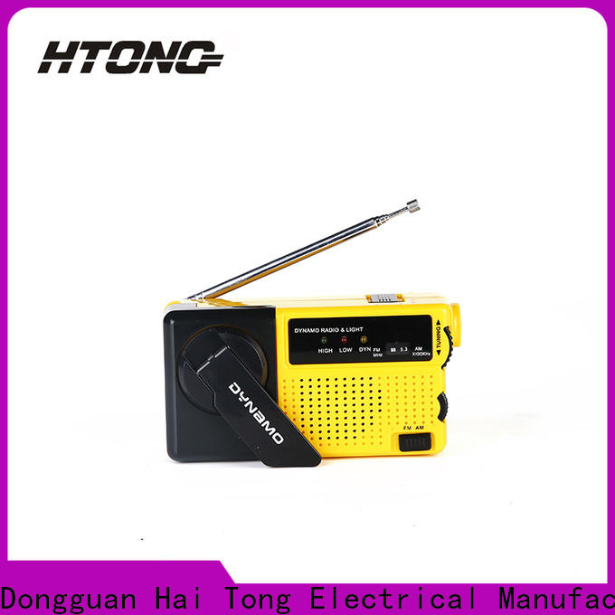 customized crank flashlight radio ht3068 online for home