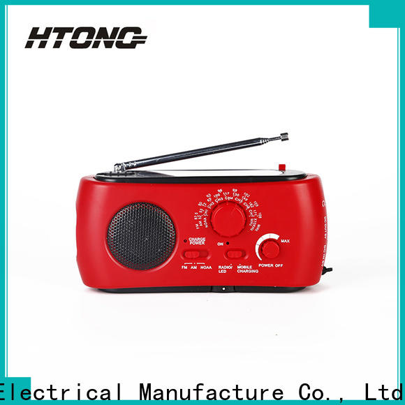 HTong professional solar hand crank radio easy to use for hotel