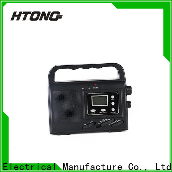 HTong outdoor solar powered emergency radio promotion for outdoor