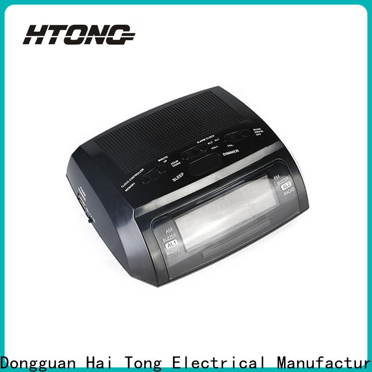HTong durable am fm clock radio manufacturer for family