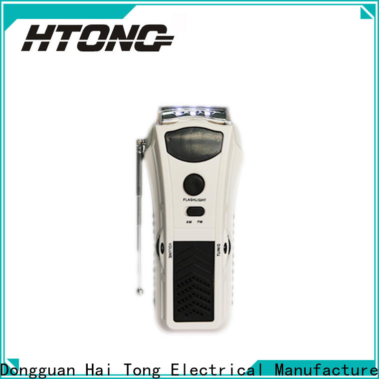 HTong customized hand crank emergency radio player for family banquet