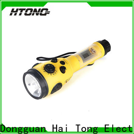 HTong dance hand crank emergency radio directly price for hotel