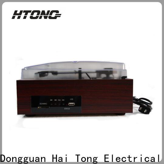 HTong mp3 antique wooden gramophone design for indoor