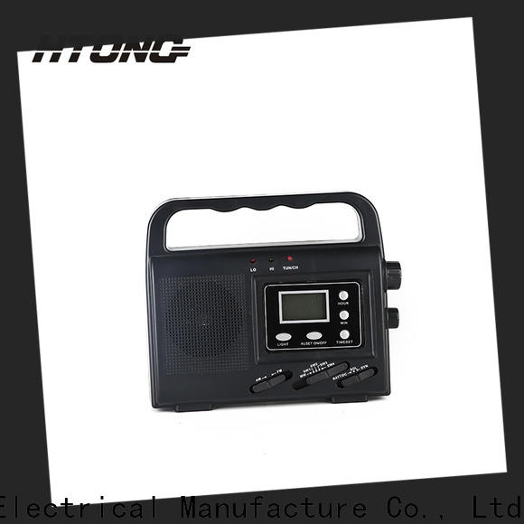HTong sw solar emergency radio easy to use for outdoor