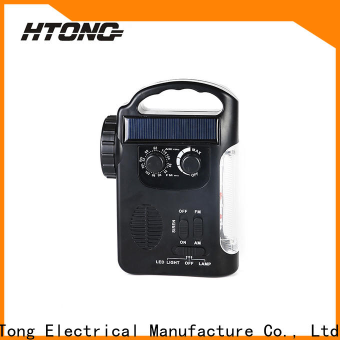 HTong emergency solar powered emergency radio factory price for house