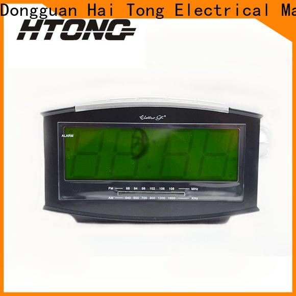 HTong electronic am fm clock radio directly sale for apartment