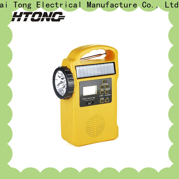 HTong vintage solar emergency radio factory price for home