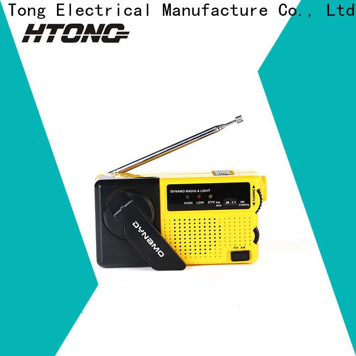 HTong solar hand crank emergency radio player for hotel