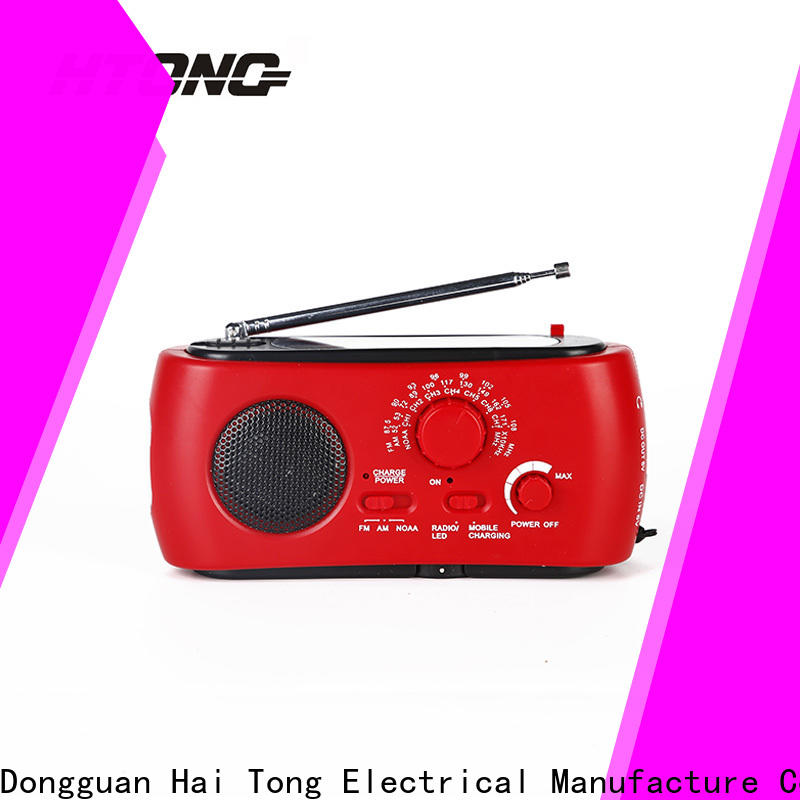 HTong super solar crank radio factory price for home