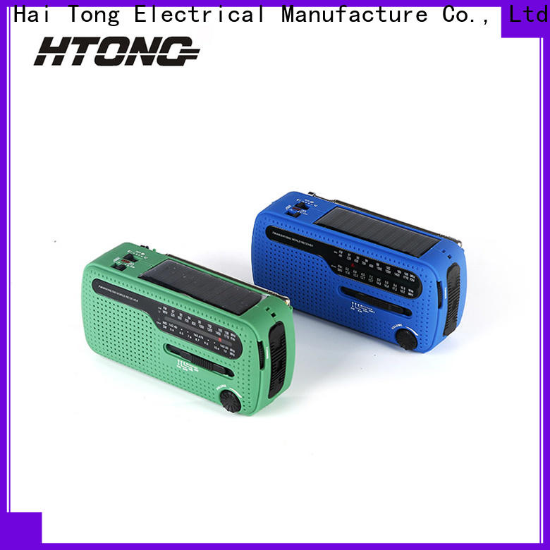 HTong portable dynamo and solar radio easy to use for house
