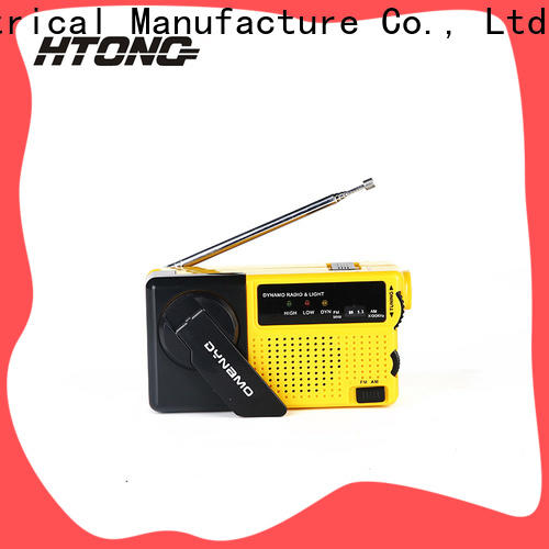 HTong ht800 crank flashlight radio design for indoor